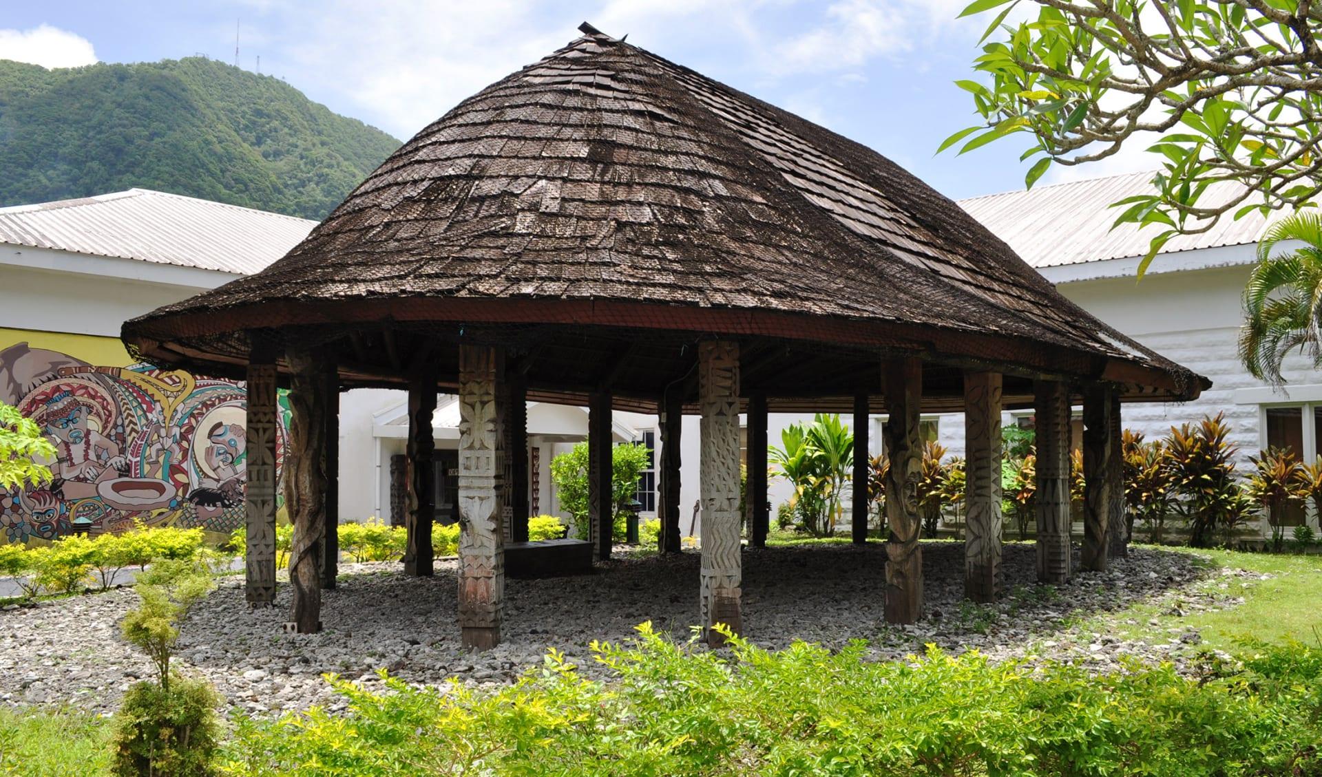 Traditionelle Samanische Hütte, Pago Pago, Samoa