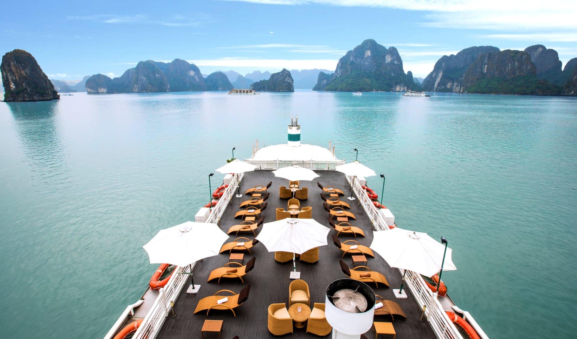Halong Bucht Kreuzfahrten mit «The Au Co» ab Hanoi: Sundeck - 2