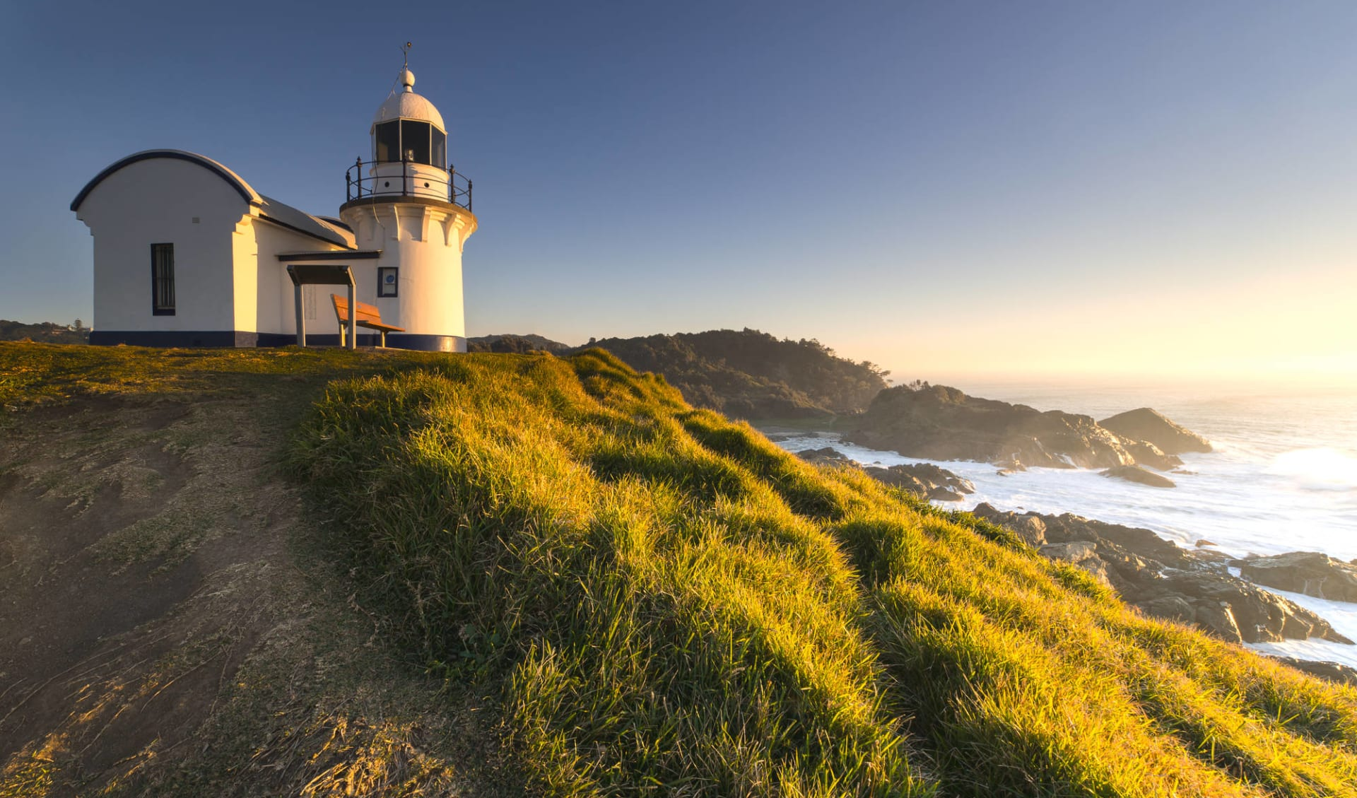 East Coast Encompassed ab Sydney: Tacking Point Light House in Port Macquarie