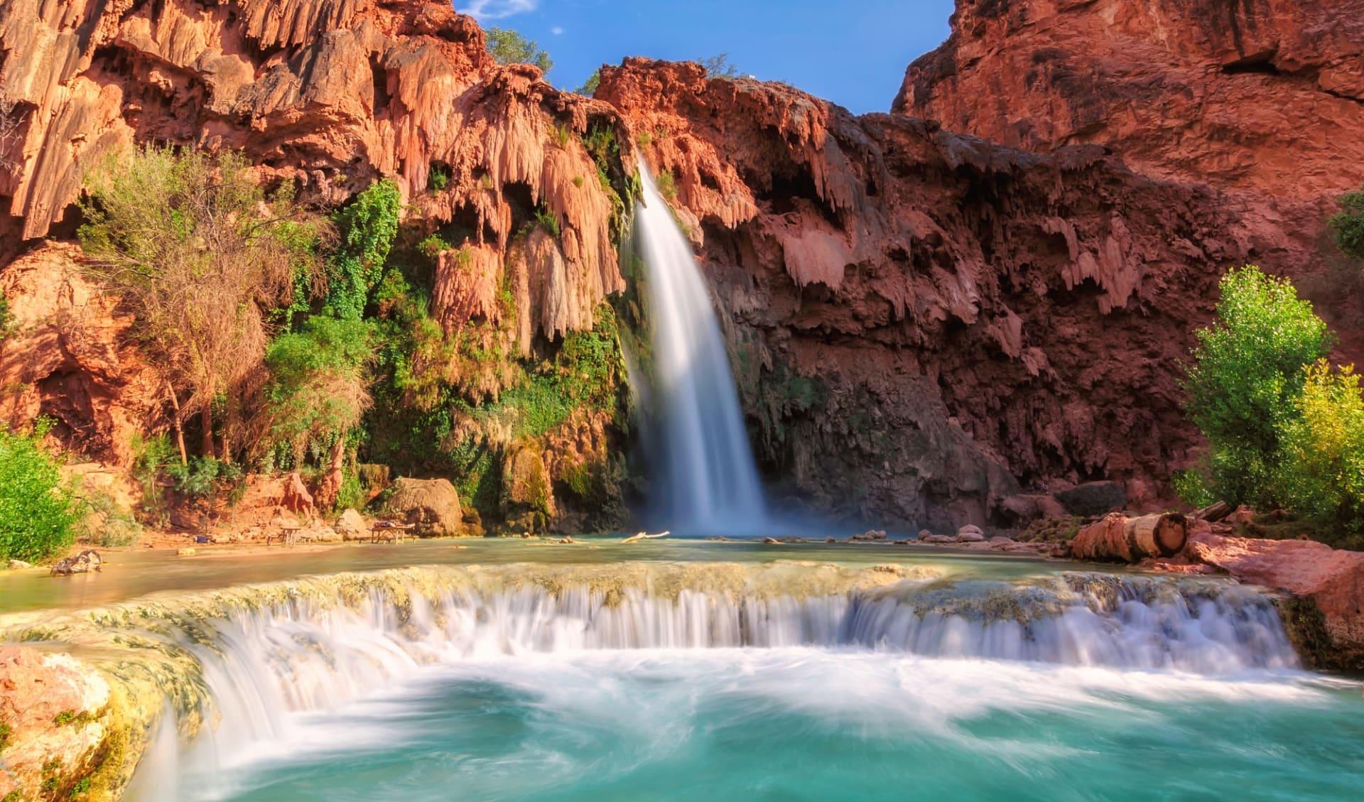 The Great West ab Los Angeles: USA - Arizona - Havasu Falls at Grand Canyon NP