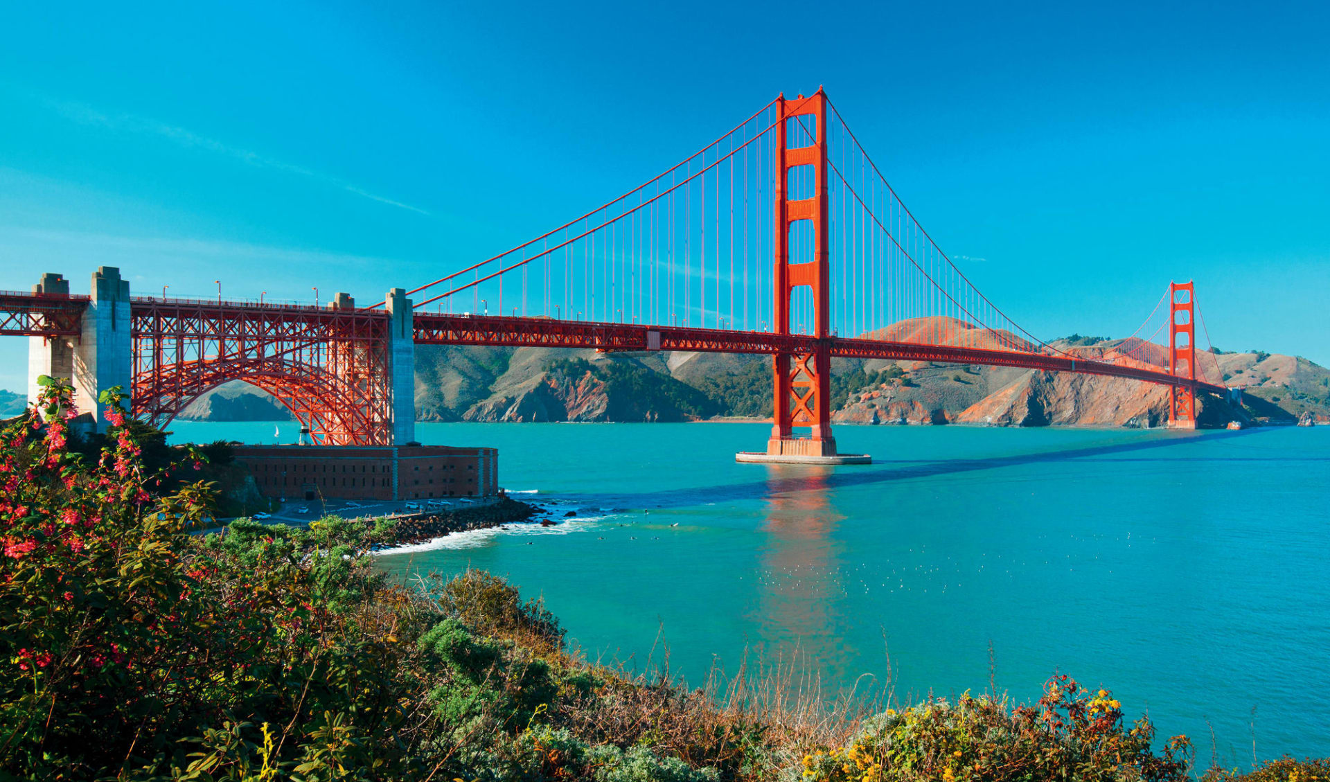 Der Goldene Westen ab Los Angeles: Golden Gate Bridge