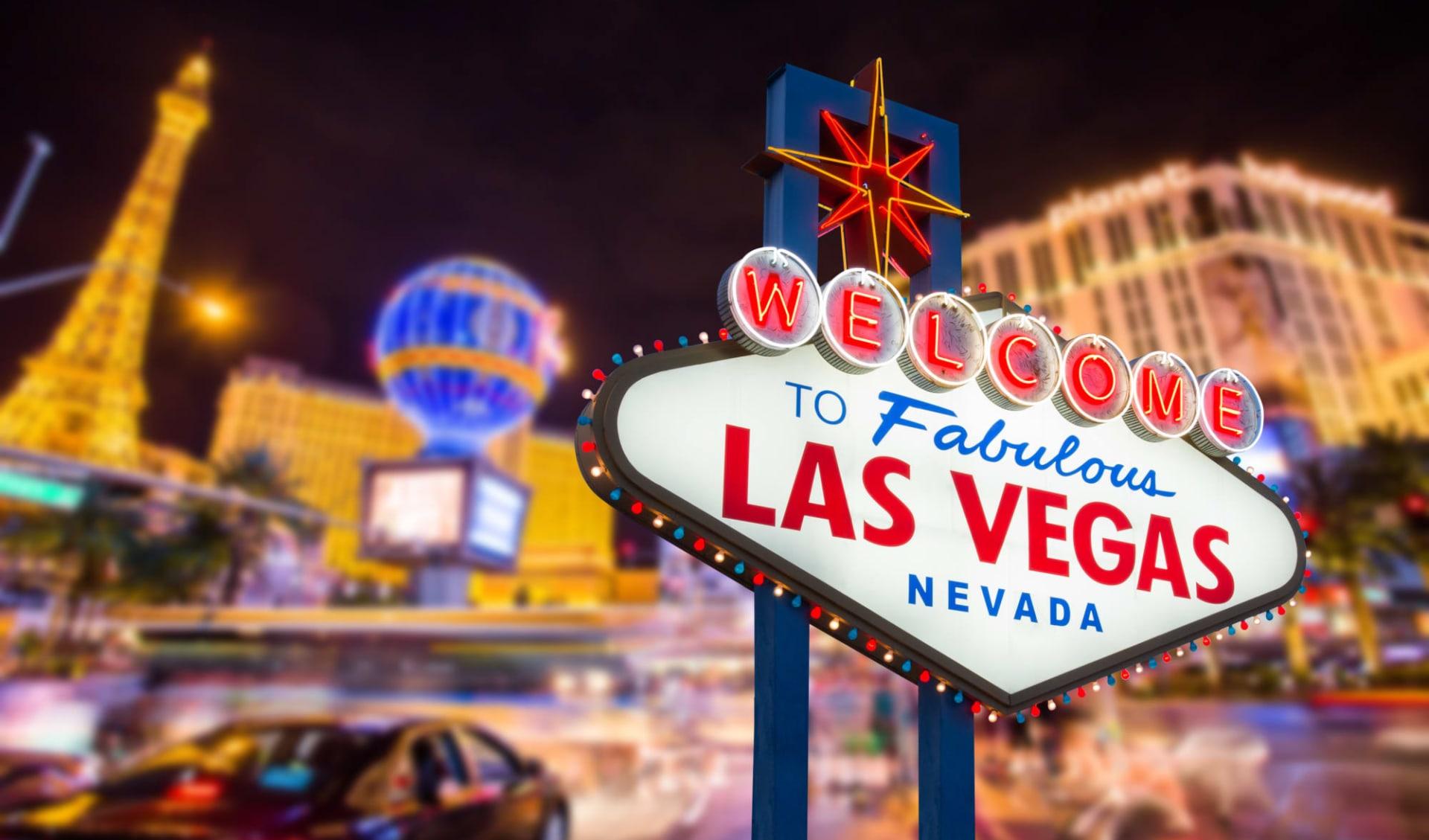 The Best Western ab San Francisco: USA - Las Vegas - Welcome to Las Vegas Schild