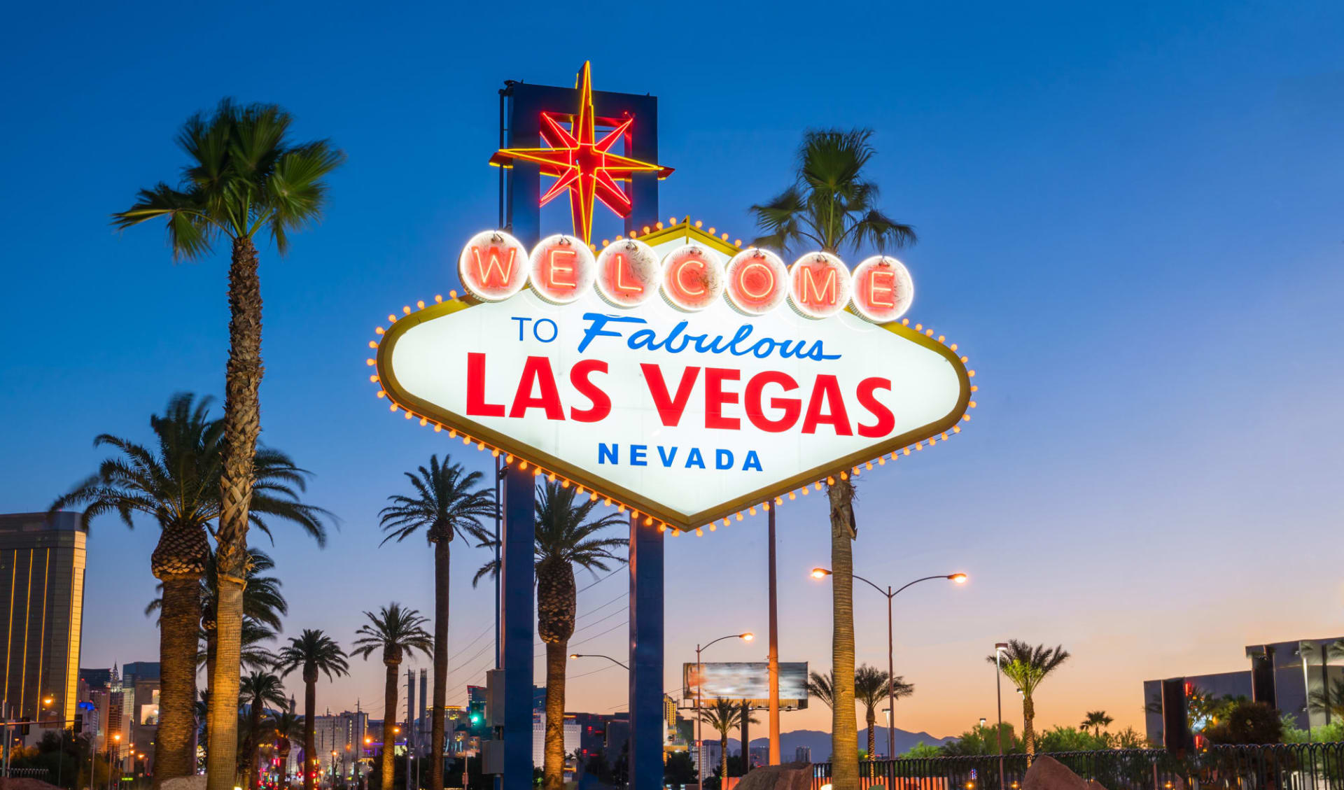 Nationalparks Explorer ab Las Vegas: USA - Nevada - Welcome to Las Vegas Schild