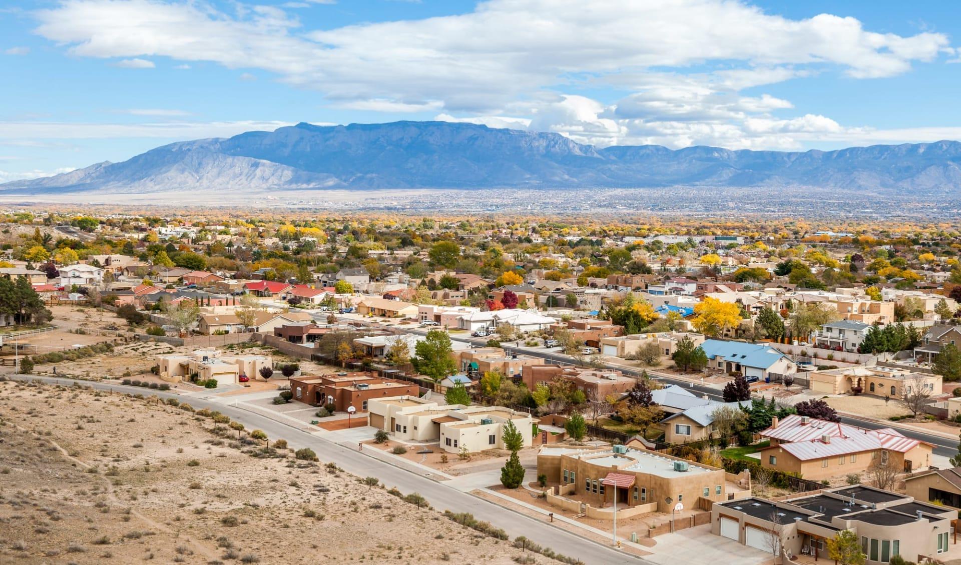 Rocky Mountain Frontiers ab Denver: USA - New Mexico - Albuquerque Resditential Suburbs