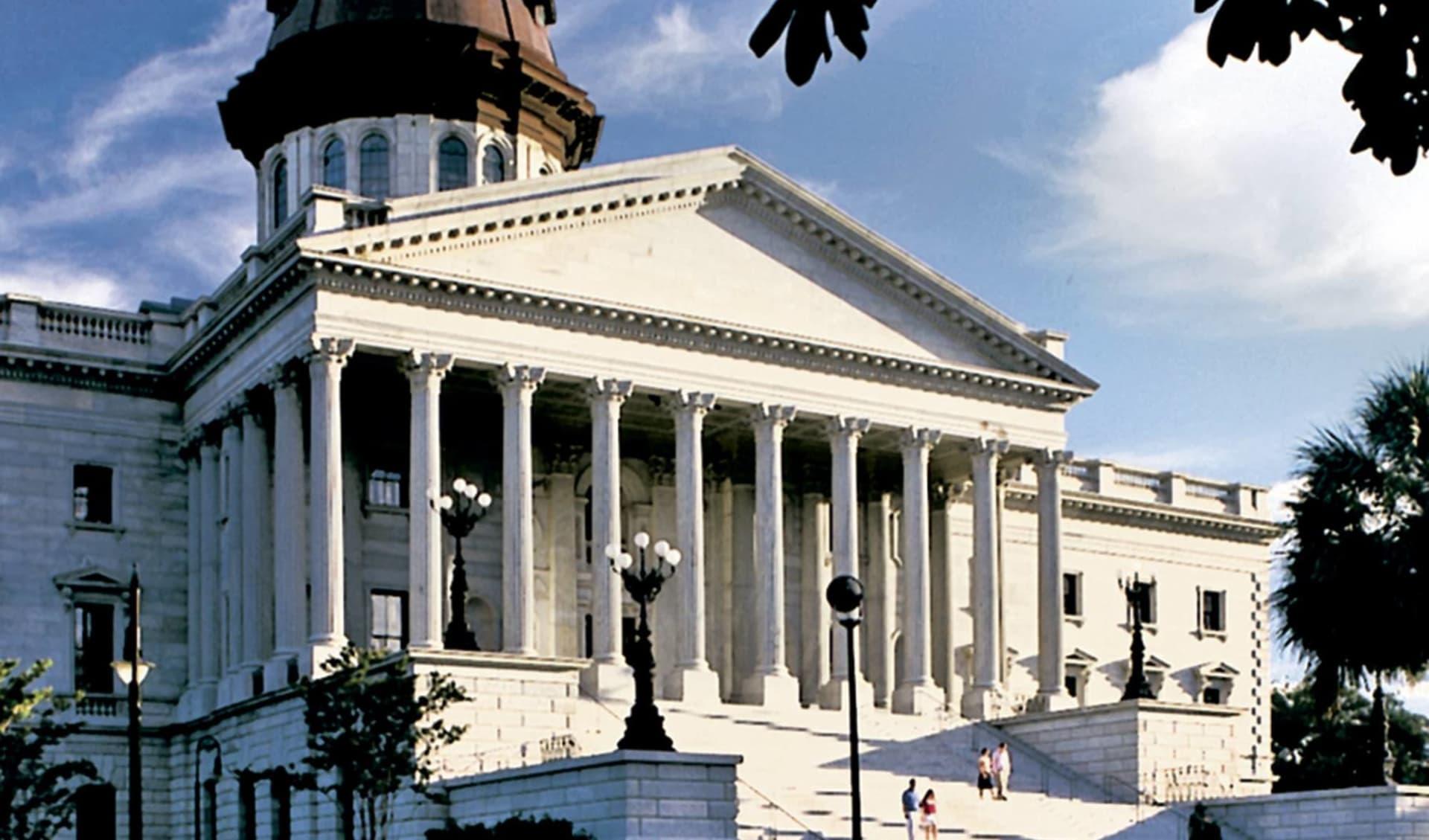 Beautiful North & South Carolina ab Charlotte: USA - South Carolina - State House, Columbia