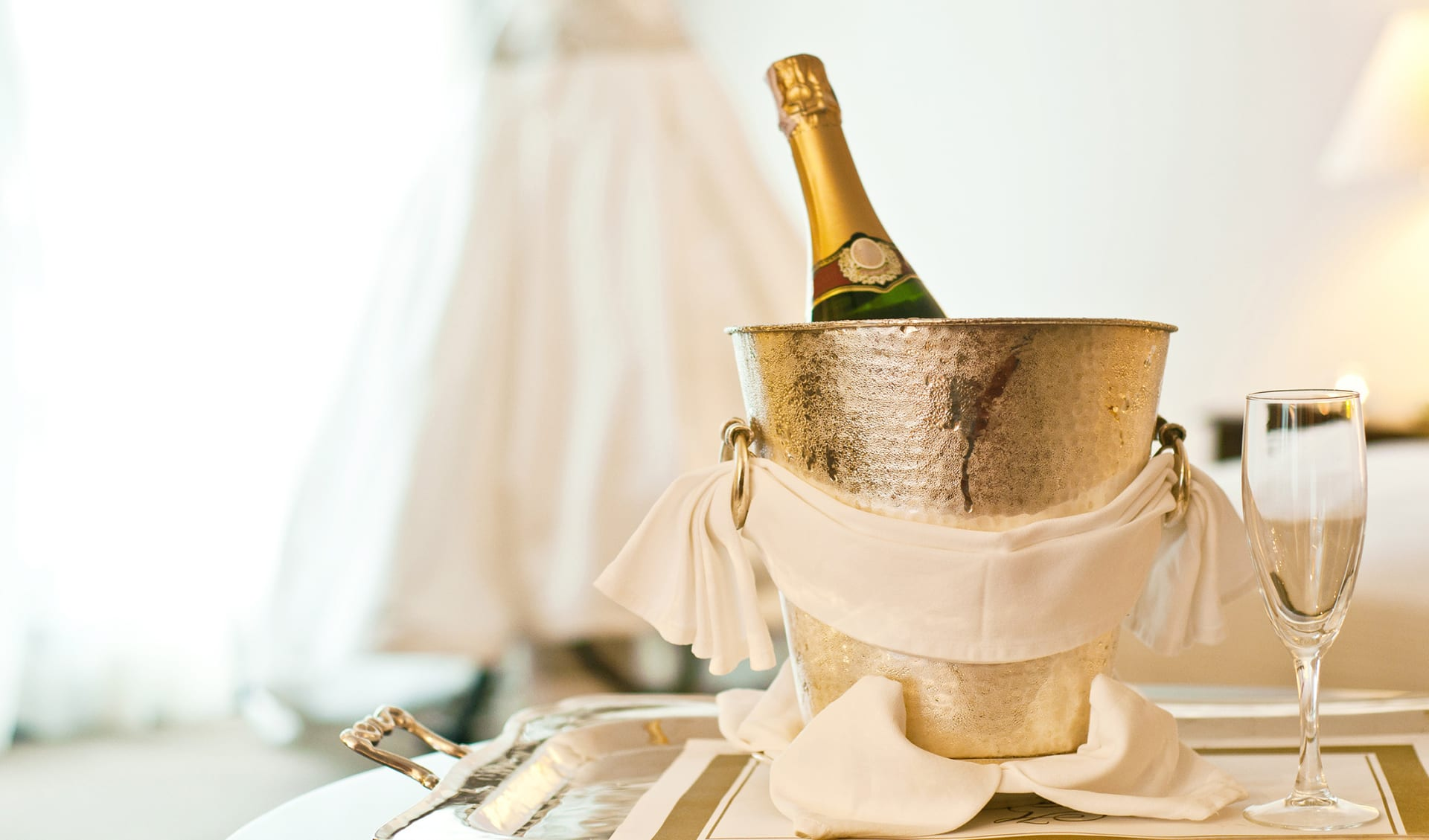 Champagner Flasche Room Service