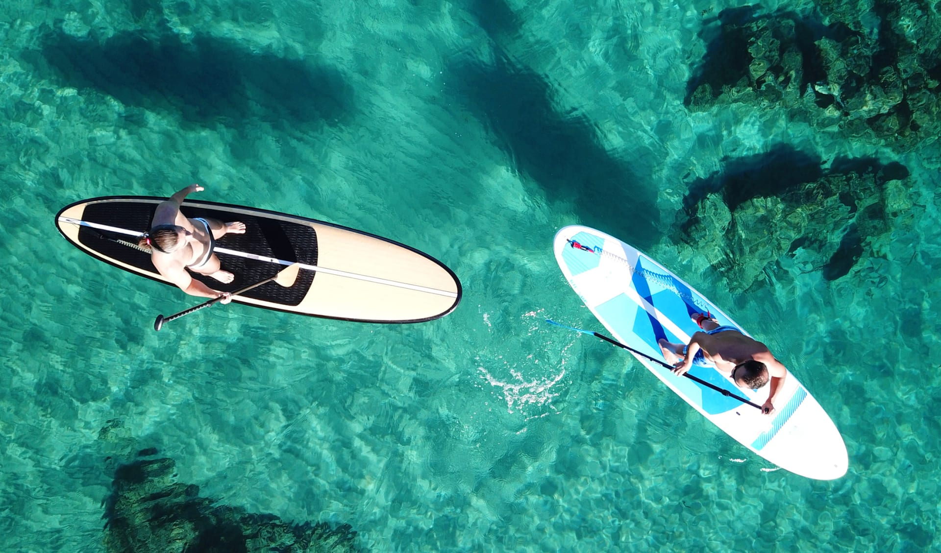 Stand Up Paddle im Meer