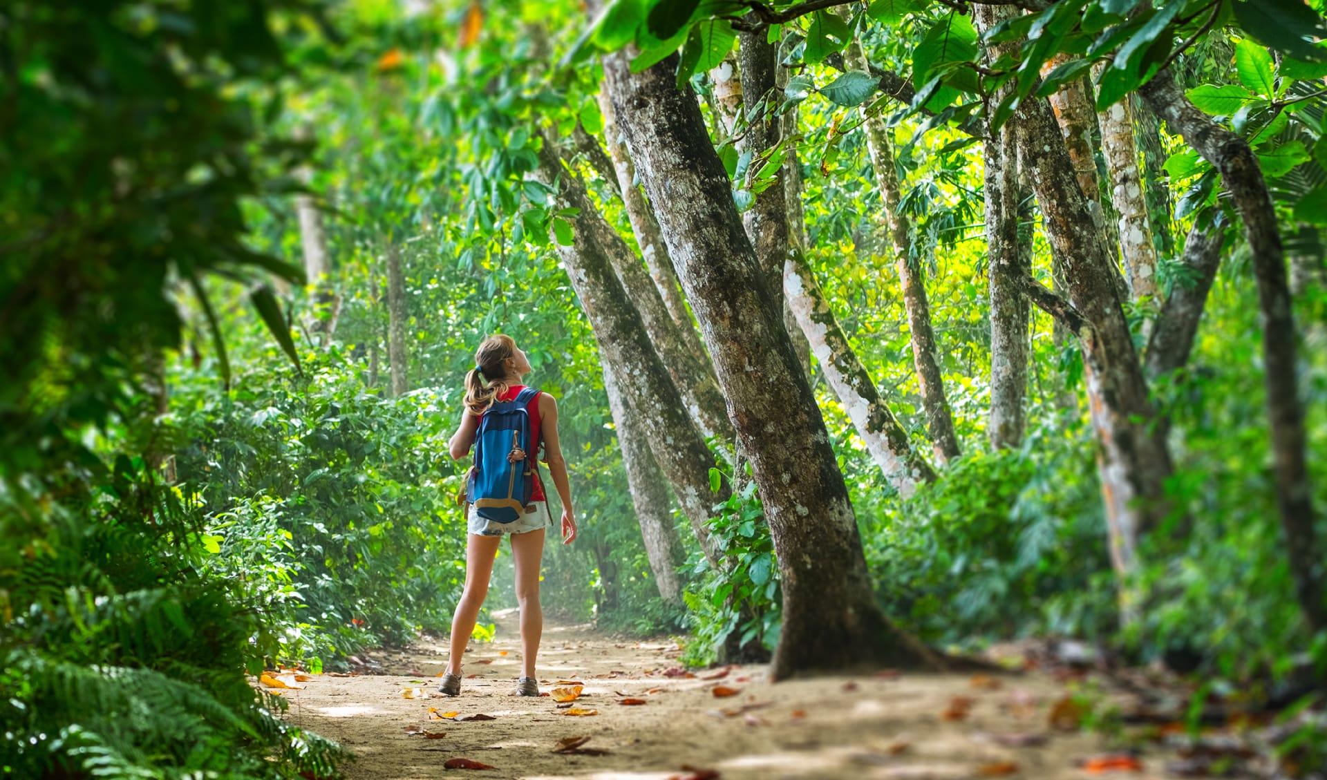 Mädchen im Dschungel, Costa Rica