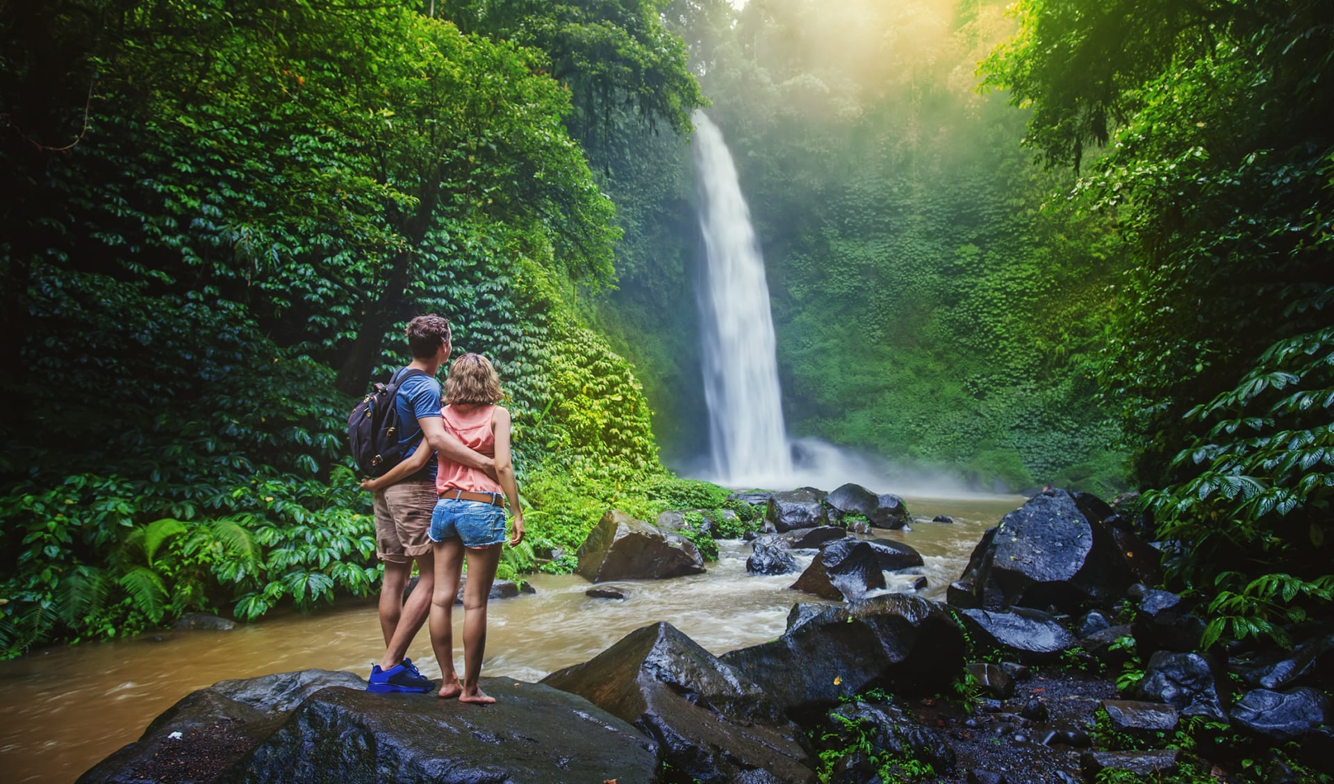 Paar im Dschungel, Costa Rica