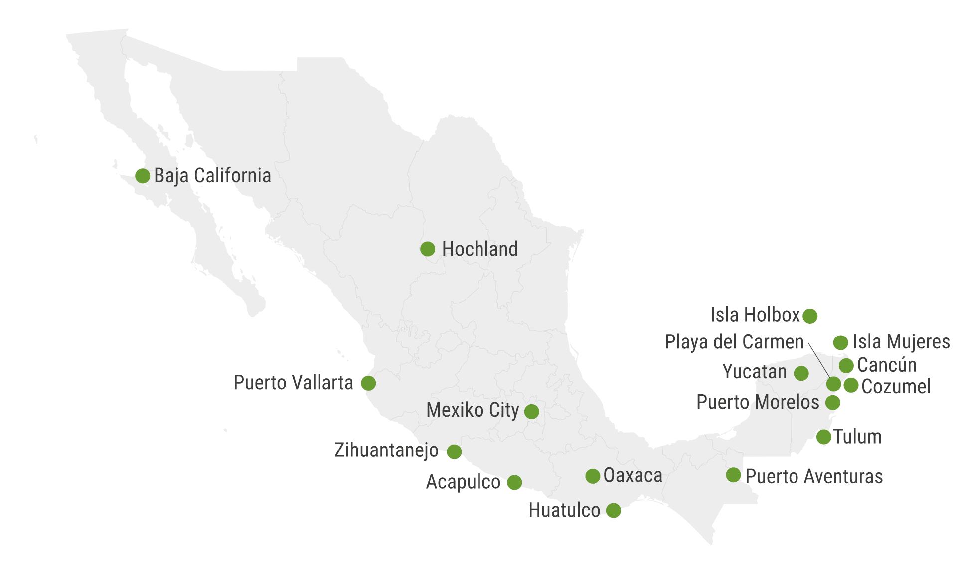 Karte Mexiko