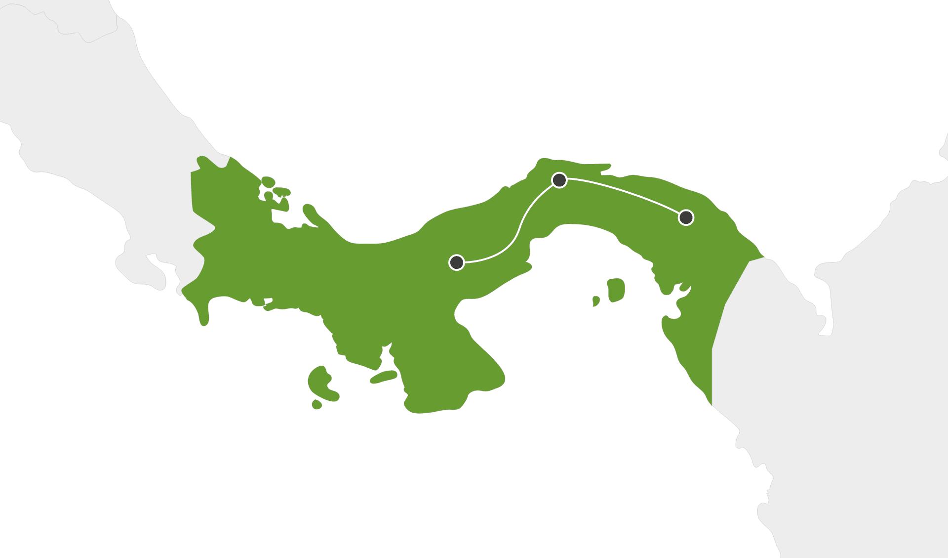 Karte Panama Rundreisen