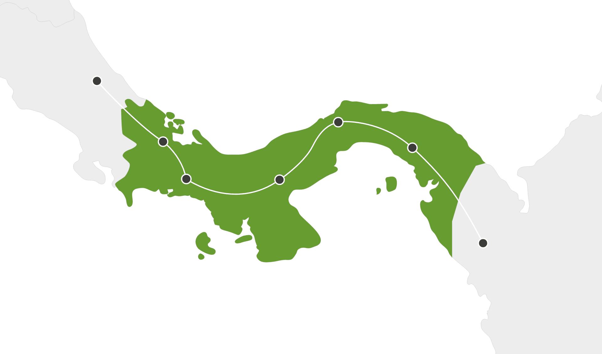 Karte Panama Rundreisen länderübergreifend