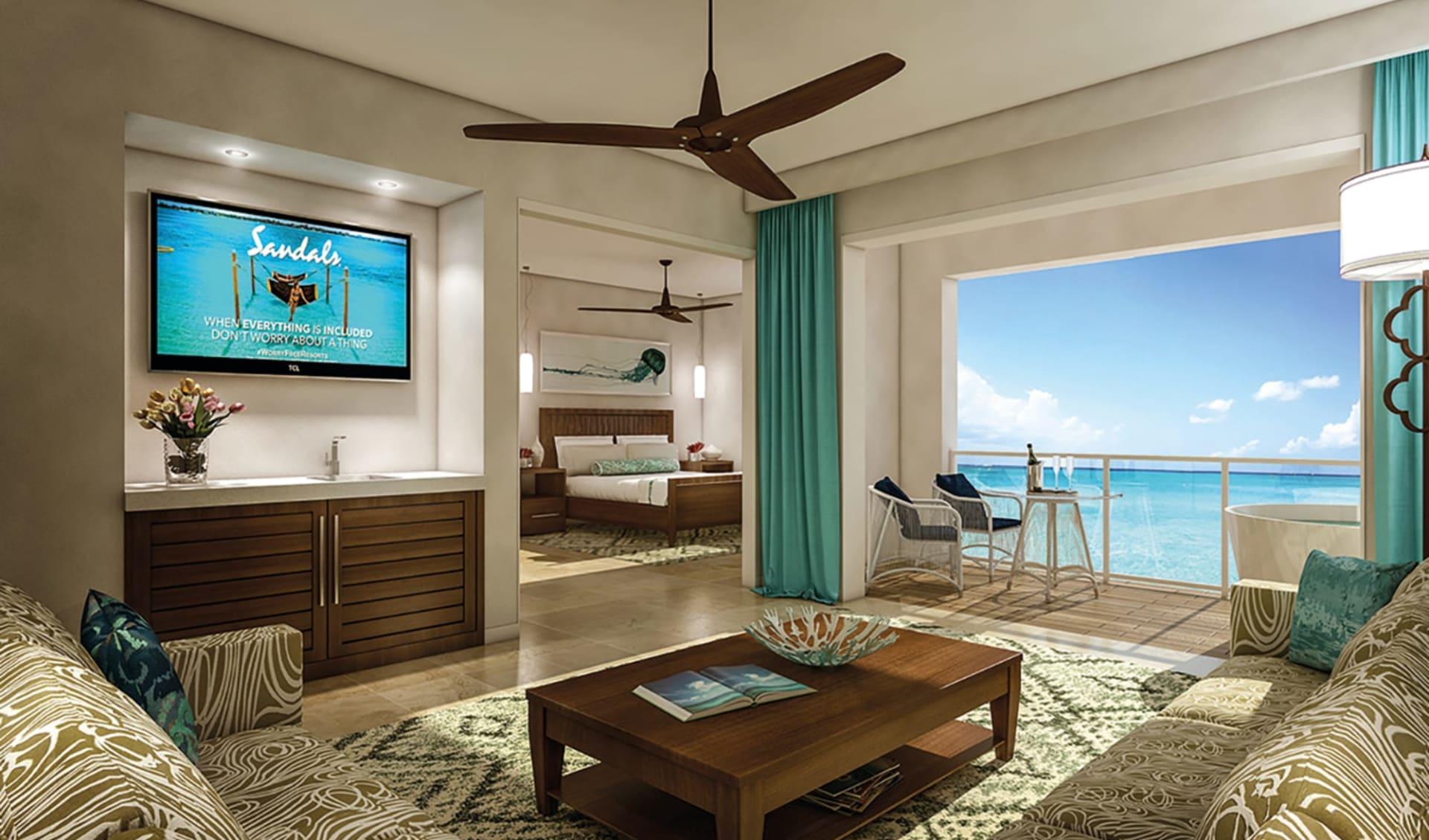 Sandals Regency La Toc Golf Resort & Spa in Castries: Zimmer Sandals La Toc St.Lucia -  Oceanview Zimmer cSandals
