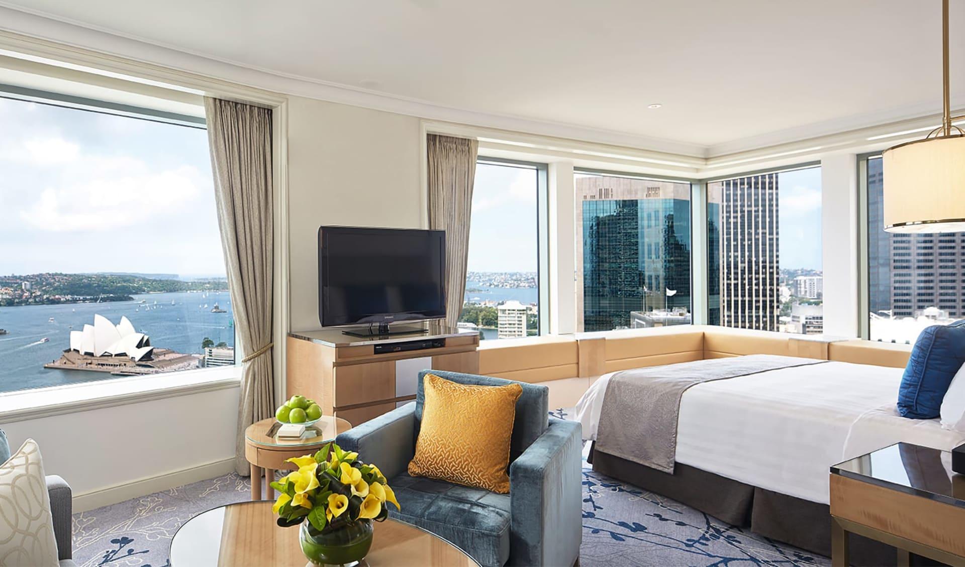Shangri-La Sydney: Zimmer Shangri-La Hotel Sydney NSW Australien  Horizon Club Premier Grand Harbour Room 2017