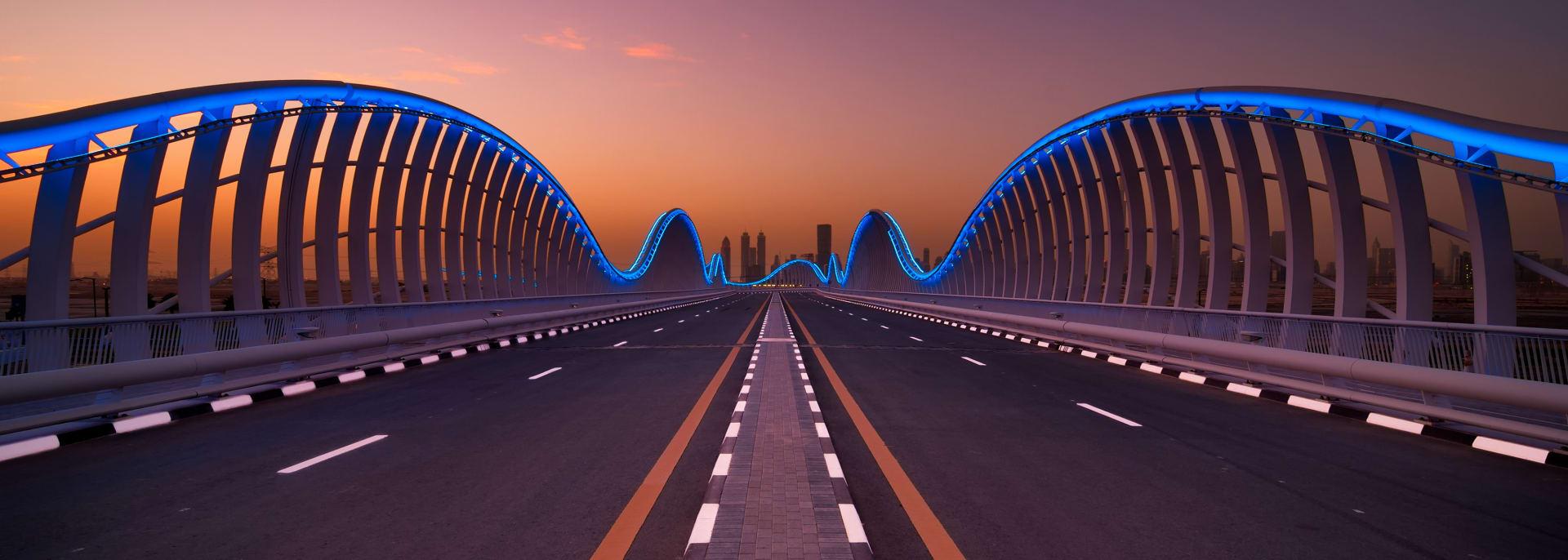 Privatstraße zum Rennplatz Meydan, Dubai