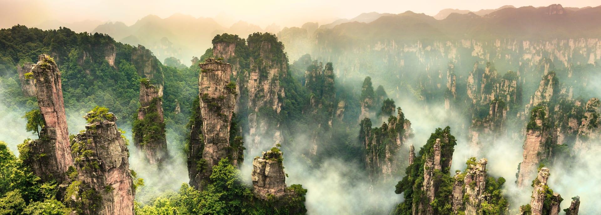 Zhangjiajie-Berg, Wulingyuan Hunan, China