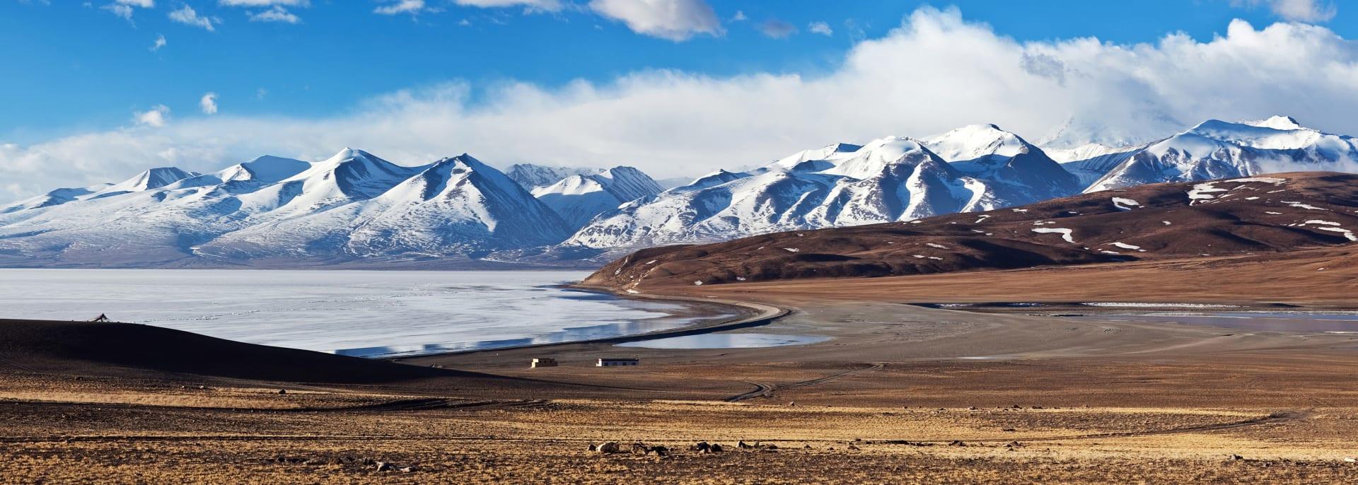 Manasarovar See und Berg Gurla Mandhata, Tibet