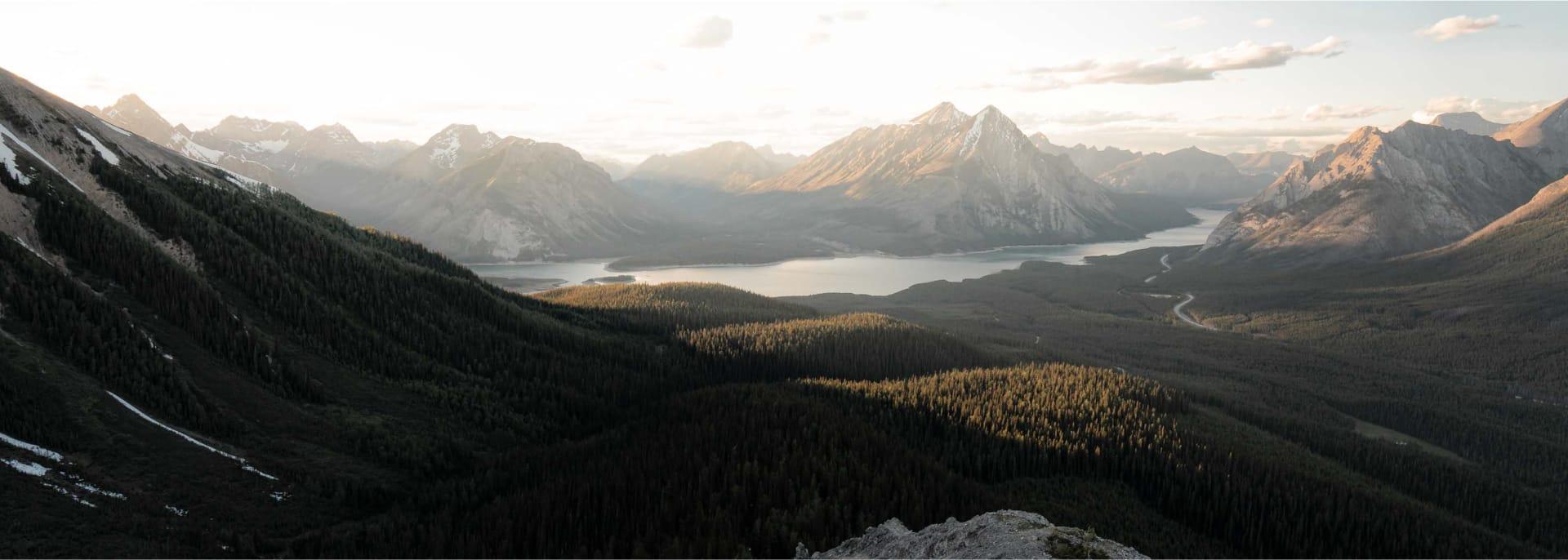 Hiking Tent Ridge in Kananaskis Country, Alberta