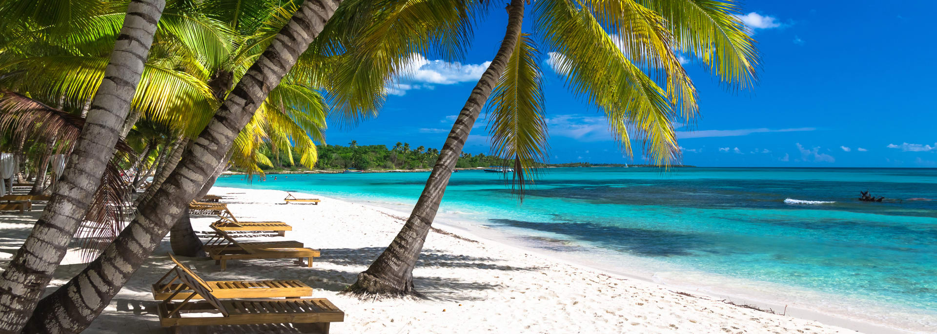 Tropischer Strand im Karibischen Meer, Saona Insel, Dominikanische Republik.