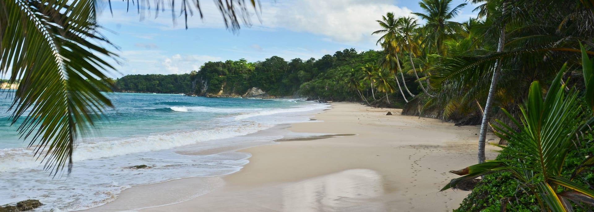 Sandy beach in northen part of Dominican Republic