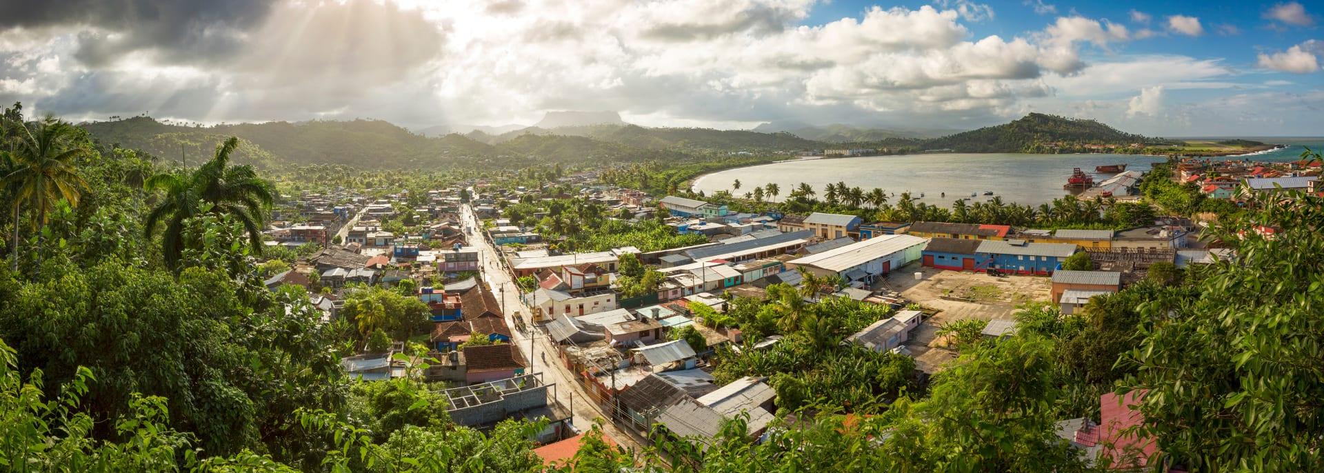 Panoramic view of Baracoa and El Yunque , Cuba