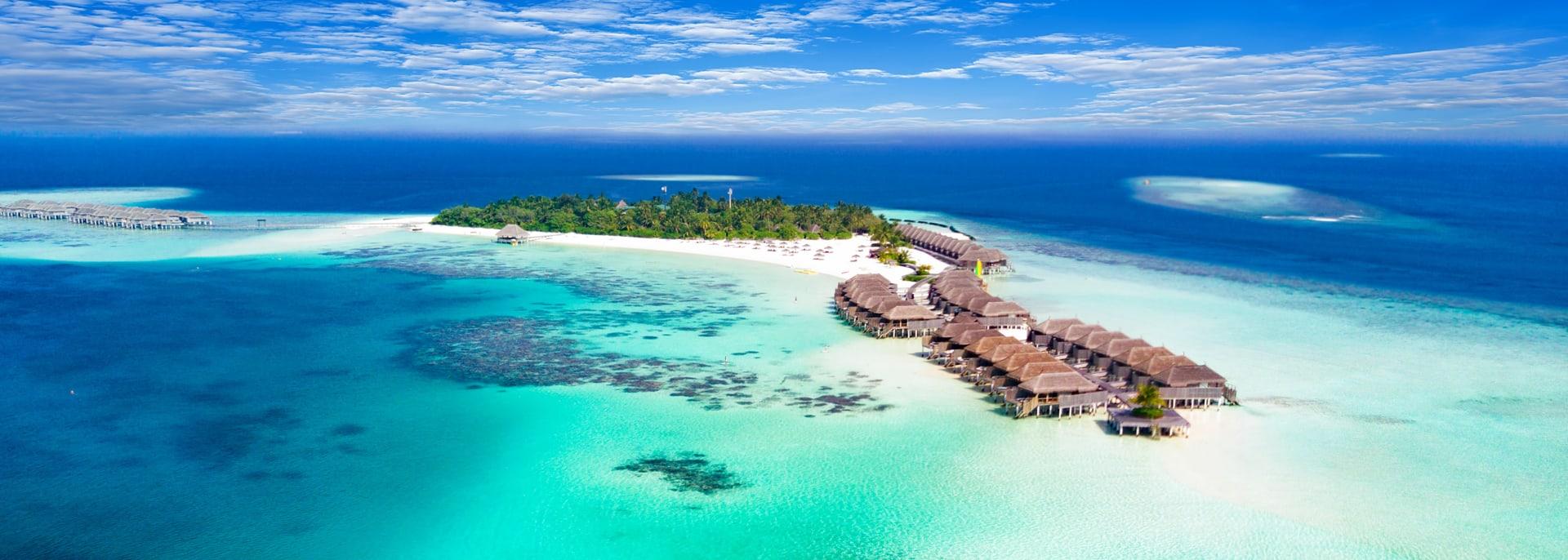 Atolle strand, Malediven