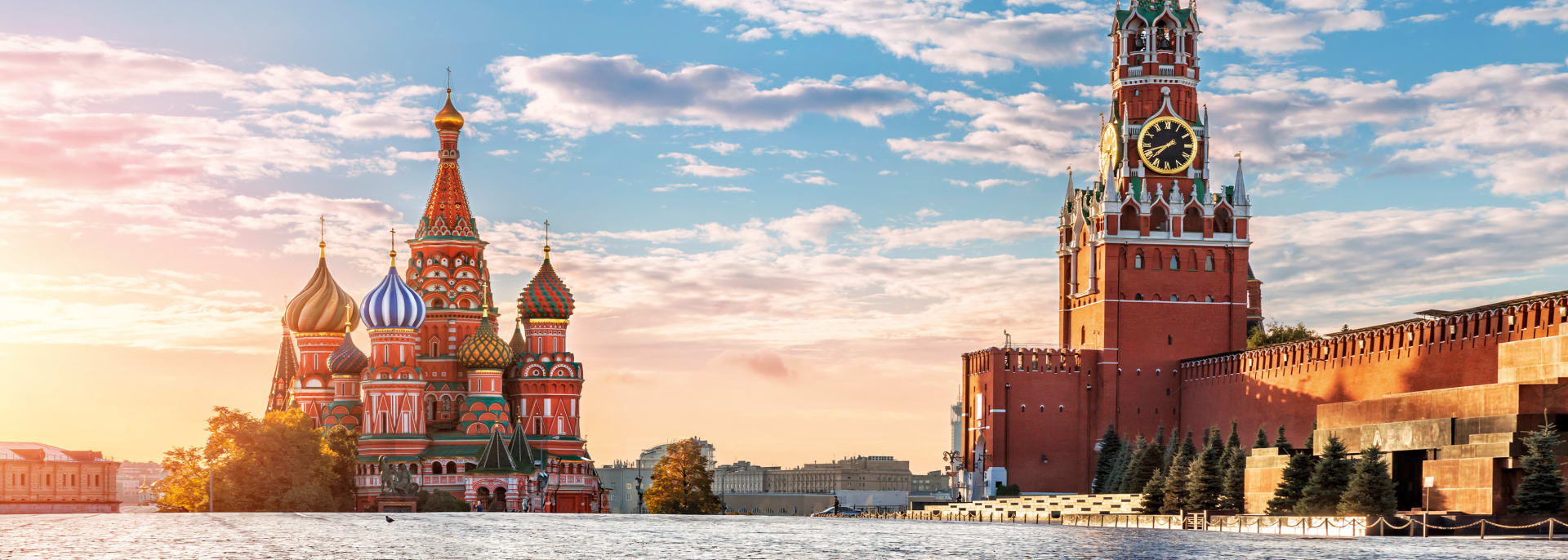 St. Basil Kathedrale und Spasskaya Turm, Moskau, Russland