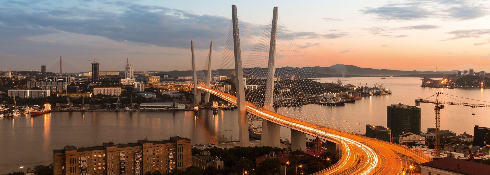 Golden Horn Bridge, Wladiwostok, Russland