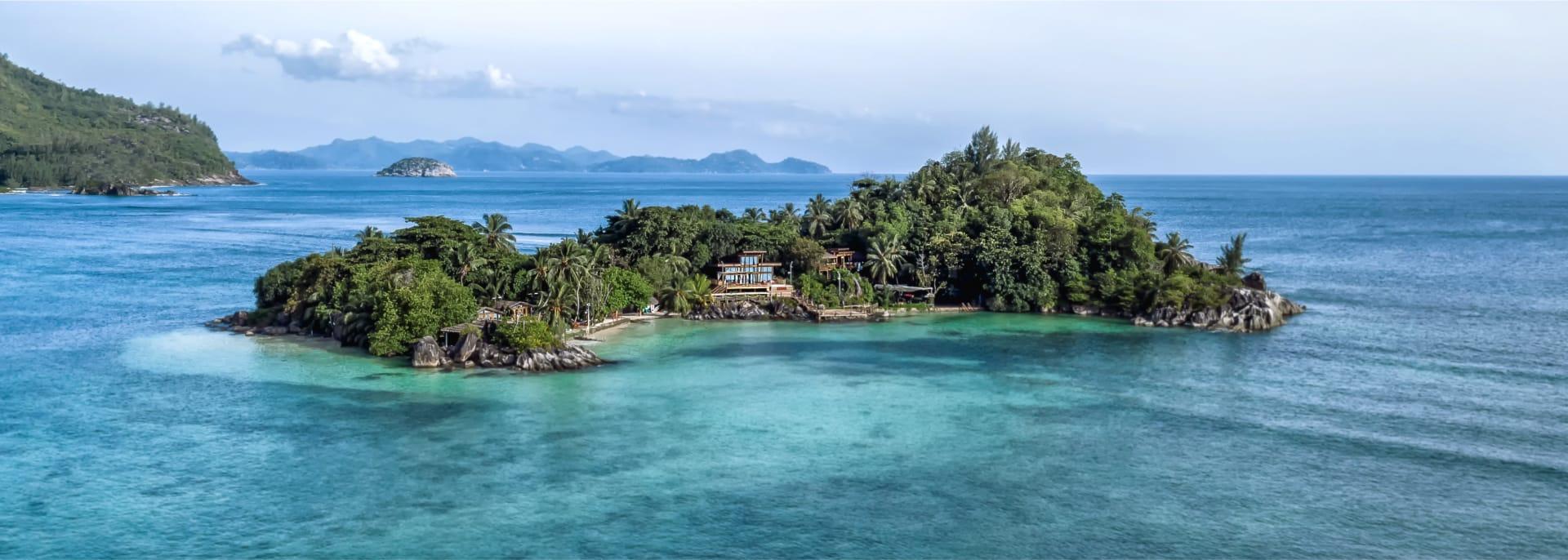 Island in water in seychelles