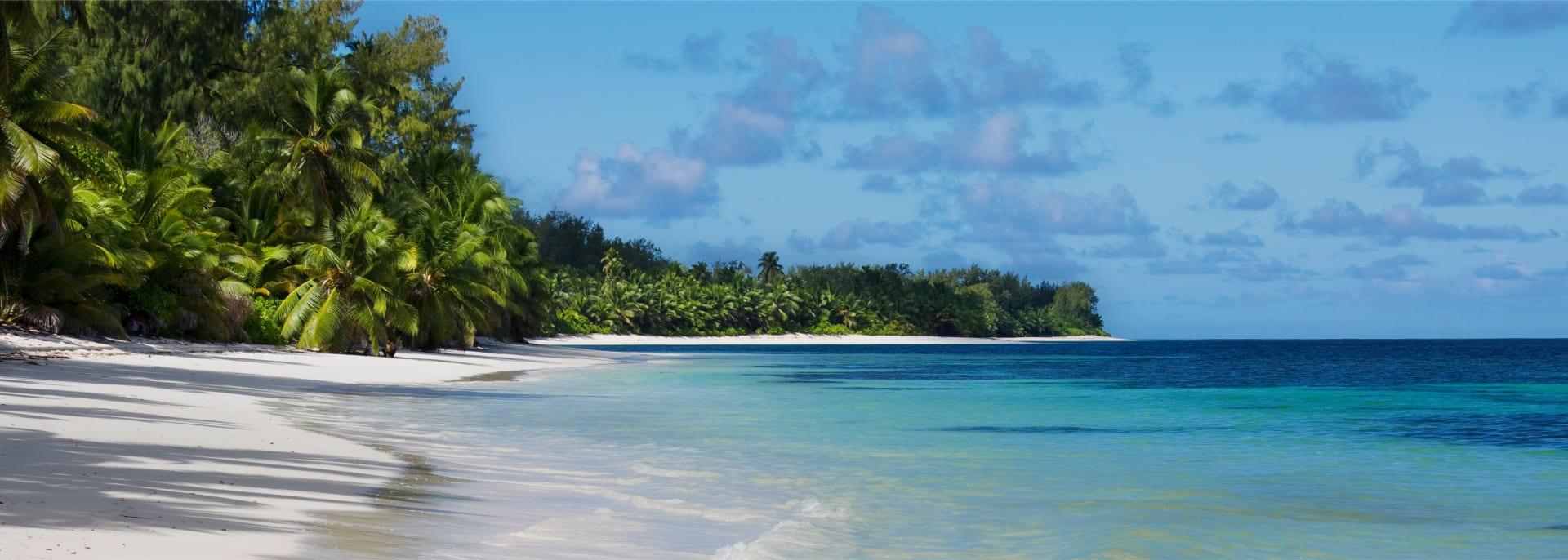 Beach of Desroches Island, Seychelles