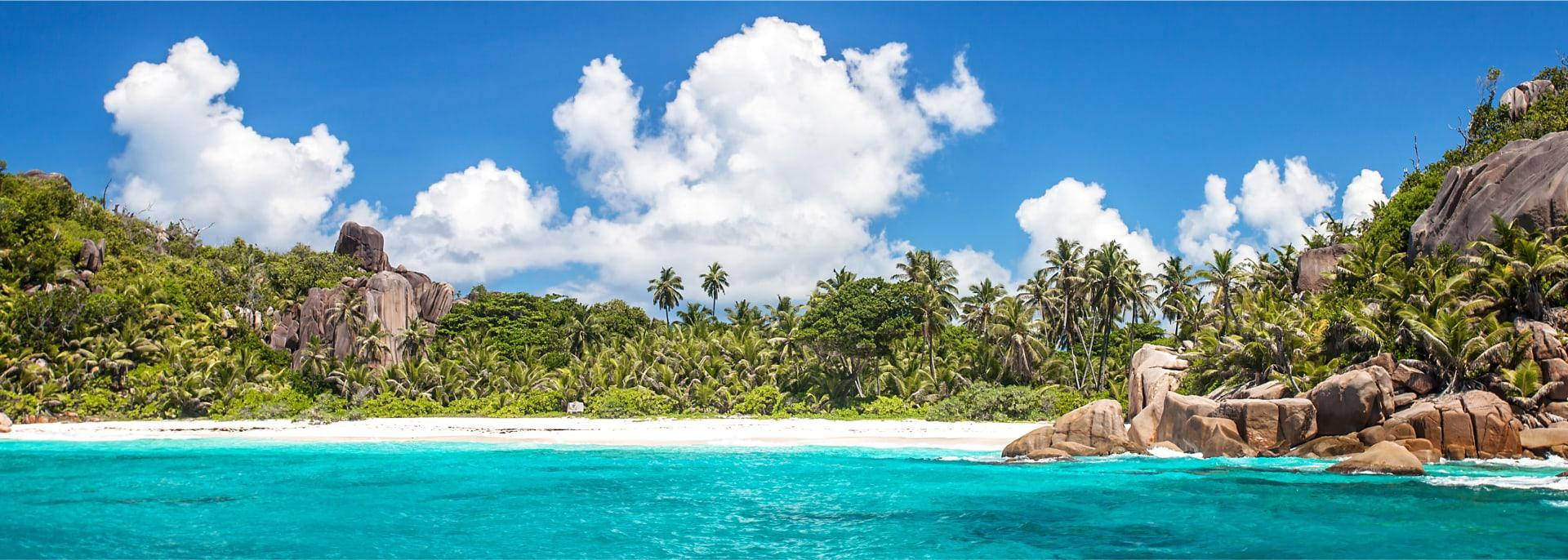 Felicite Insel, in der Nähe von La Digue, Seychellen