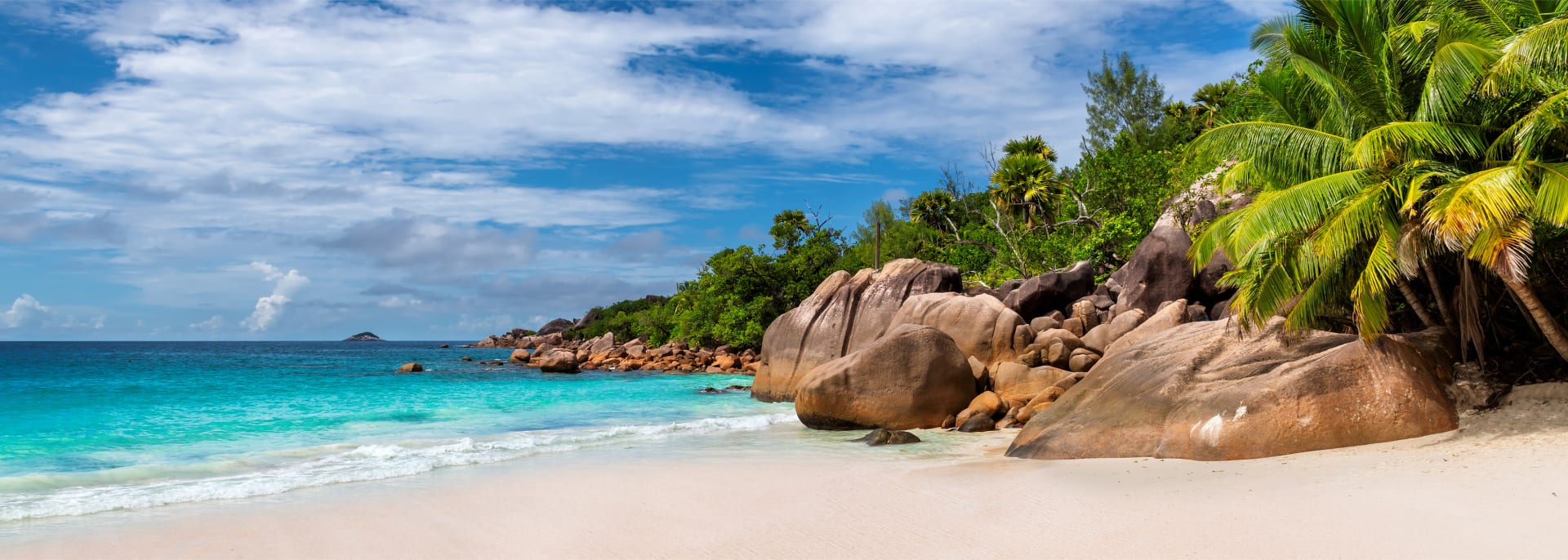 Untouched and beautiful Anse Lazio Beach on Praslin island, Seychelles