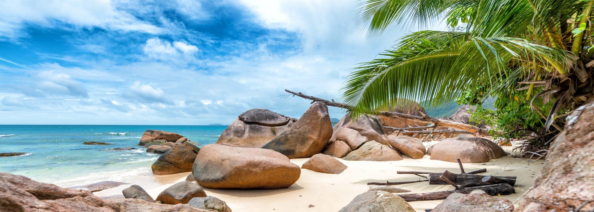 Beautiful rounded rocks, Seychelles