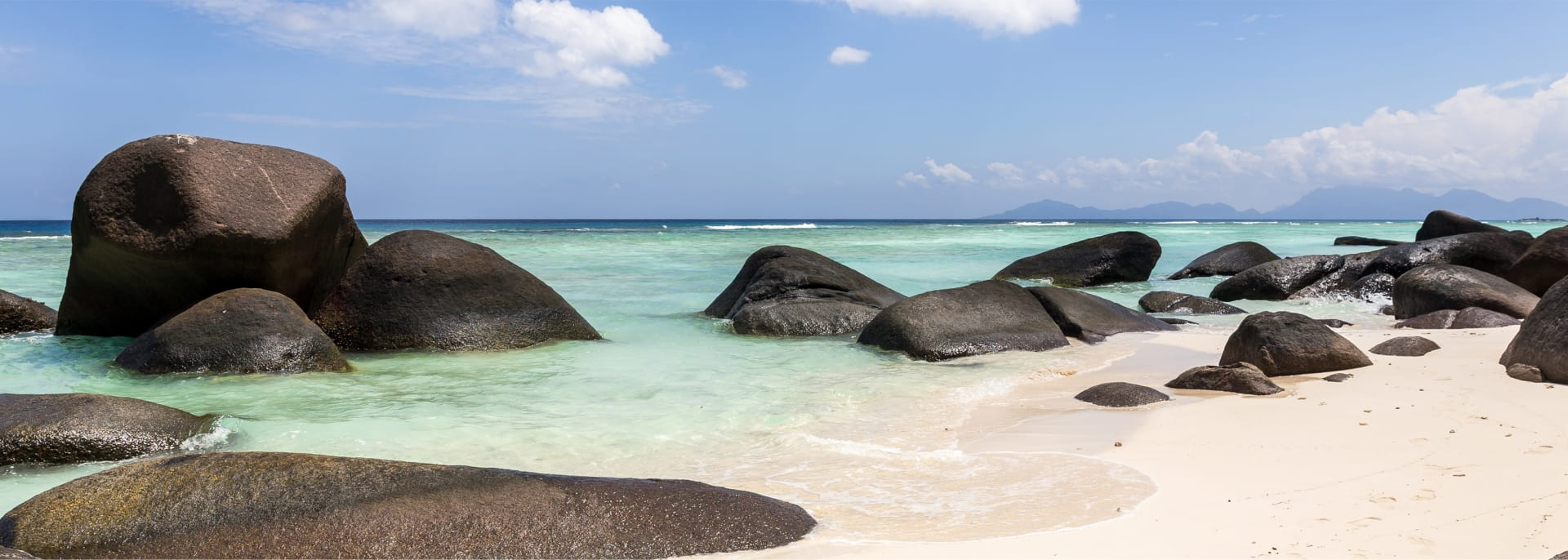 Beautiful beach and turquoise ocean on Silhouette island, Seychelles