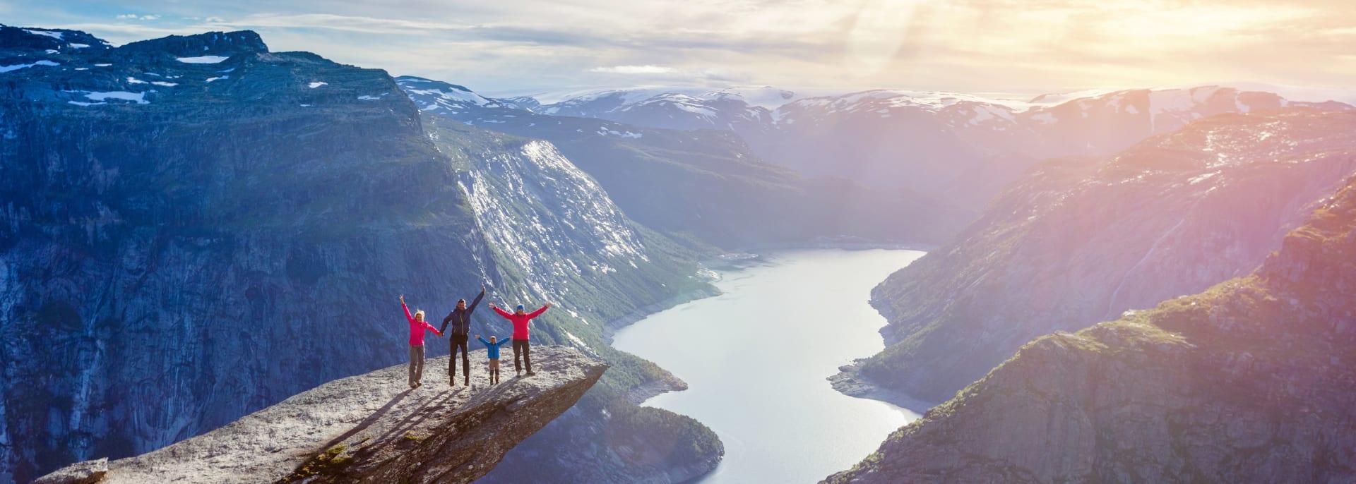 Reisen mit Kindern, Trolltunga, Skandinavien