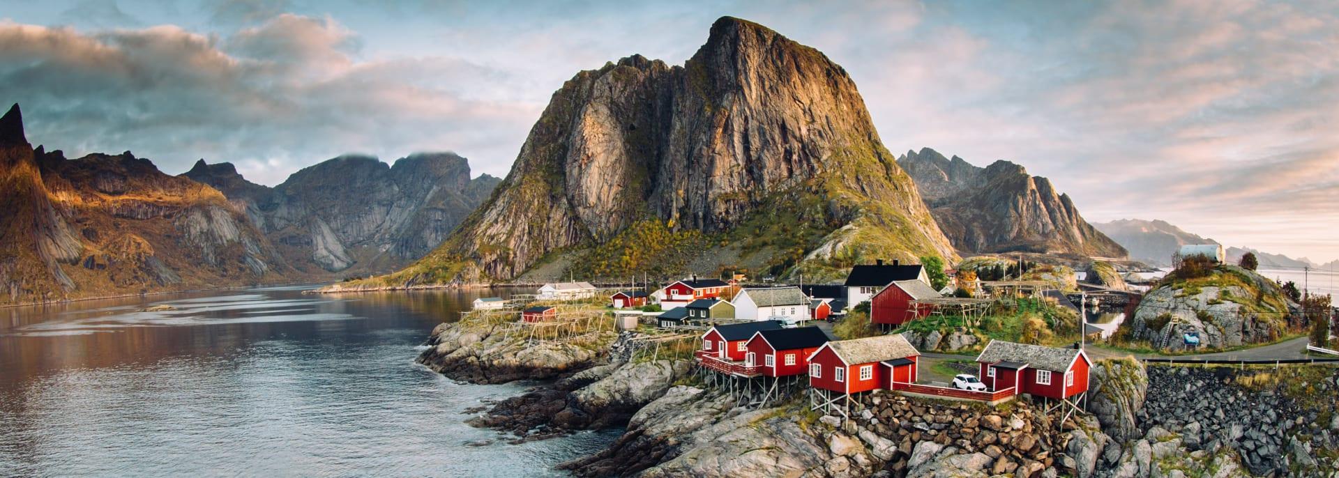 Fischer Dorf Lofoten, Norwegen