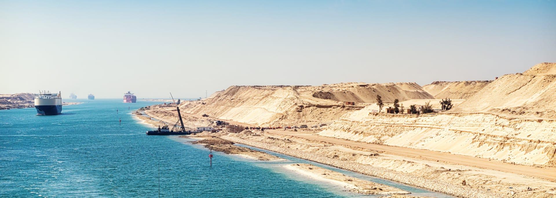 Suezkanal Flussfahrt