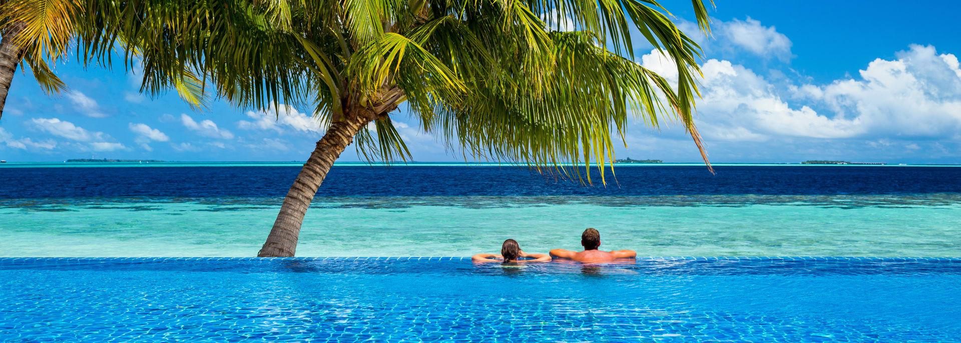 Paar im Pool, Costa Rica