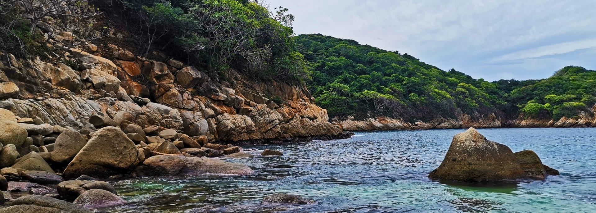 The sea in Acapulco, Mexico