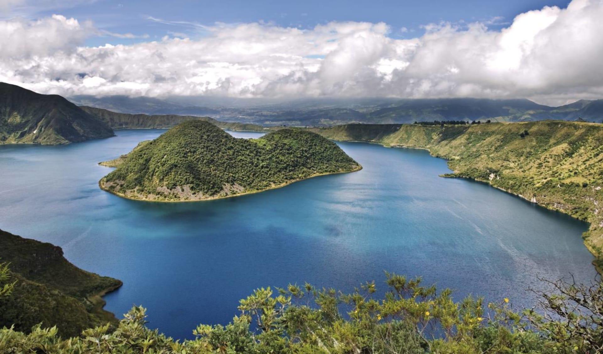 Anden - Galapagos Mosaik ab Quito: Ecuador - Cuicocha - Blick über See