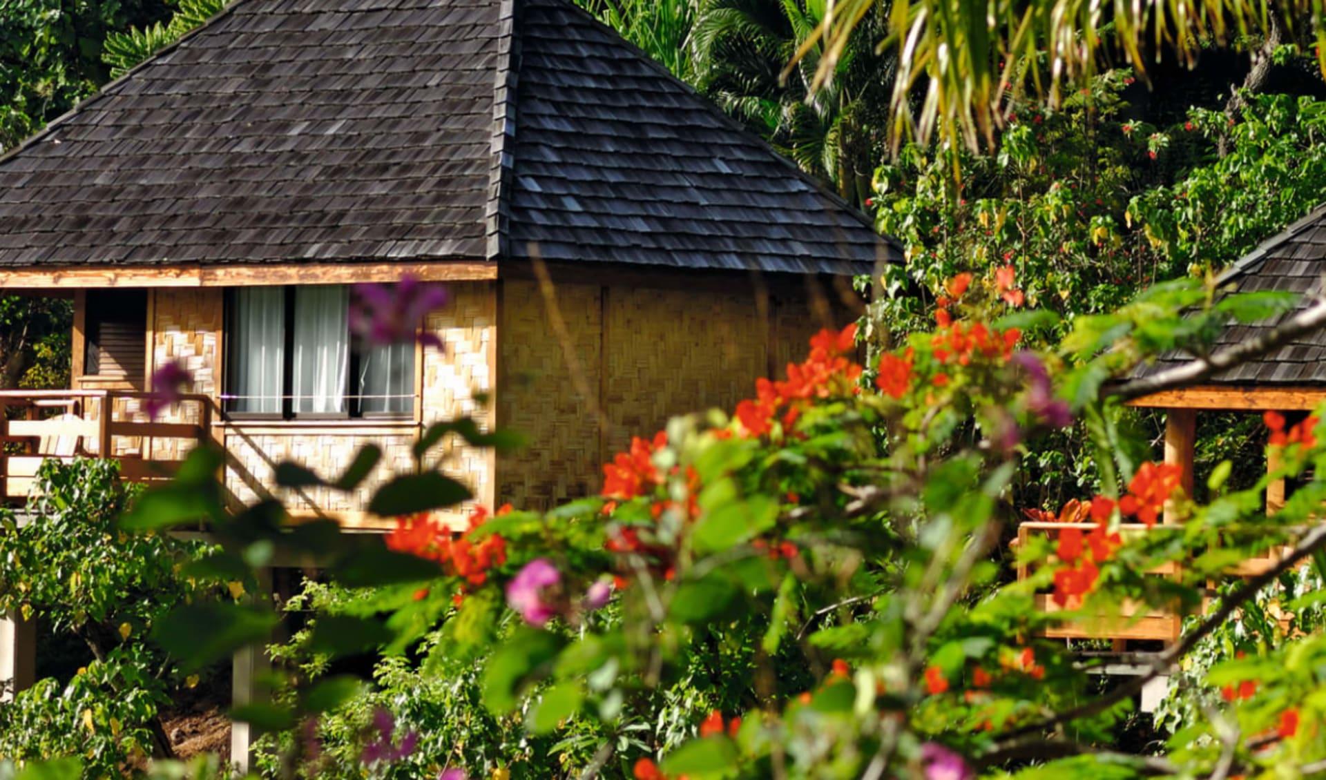 Keikahanui Lodge in Taiohae: Keikahanui Lodge - Garden Bungalow von aussen