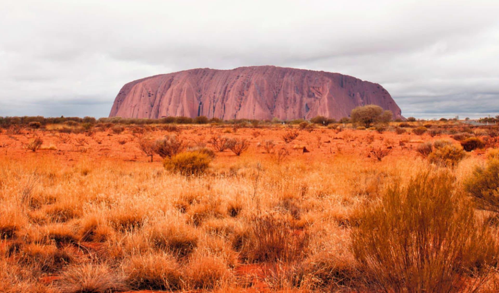 Uluru Adventure ab Alice Springs: Uluru NP - Ayers Rock mit viel Himmel