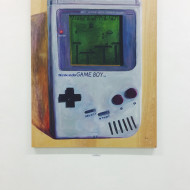 That moment when your childhood toys hang painted in a gallery