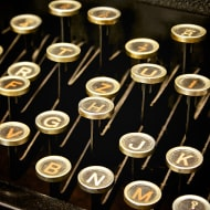 Helvetica Typewriter Keys