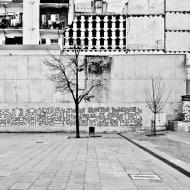 K. Haring vandalizing a wall