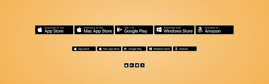CSS App Store Badges