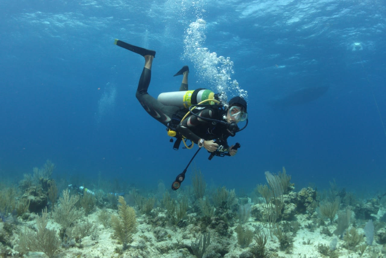 SCUBA diving with dive computer