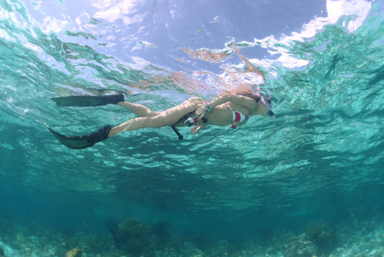 Snorkelling with GoPro in hand