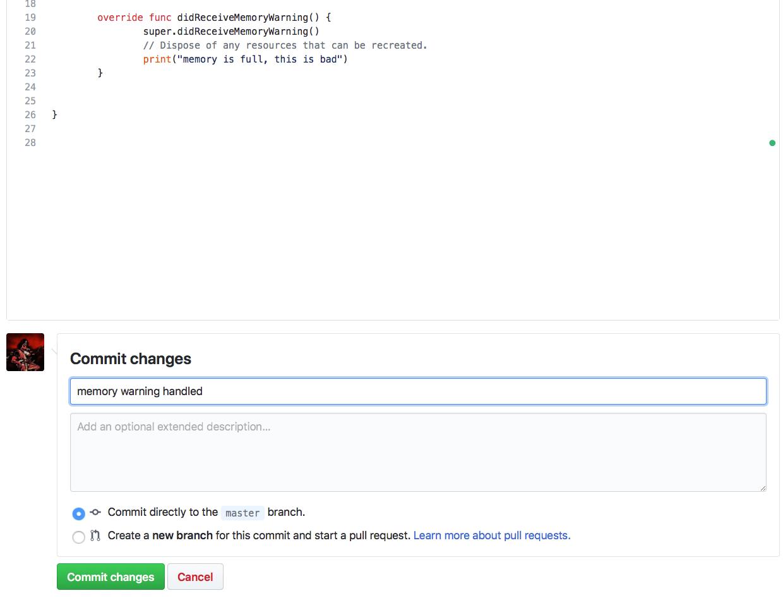 Commiting on GitHub