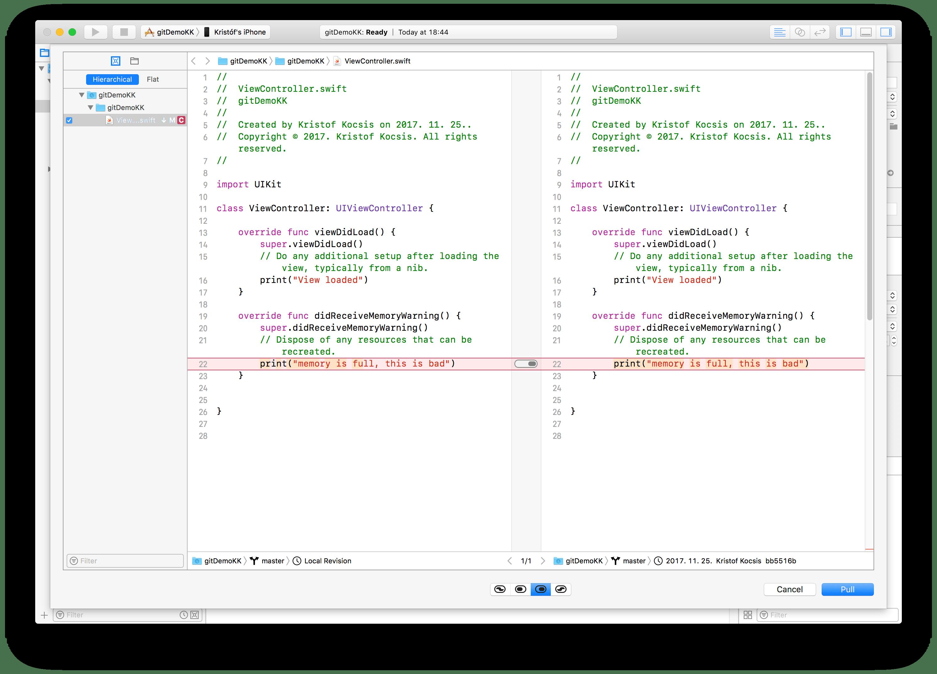 Resolving Conflict in Xcode
